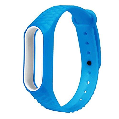 Komise Mode lumière Original Silicon Rhombus Motif Sangle de poignet Bracelet de remplacement pour Xiaomi Mi Band 2