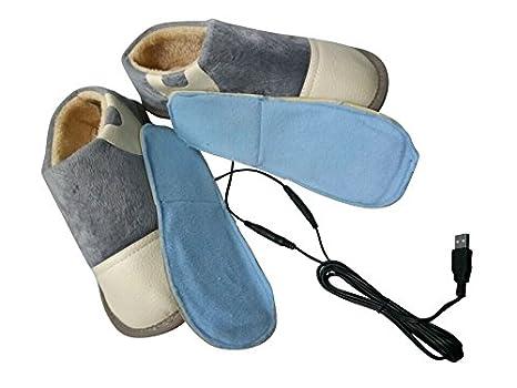 Amazon.com: USB climatizada Zapatillas Para Calentamiento ...