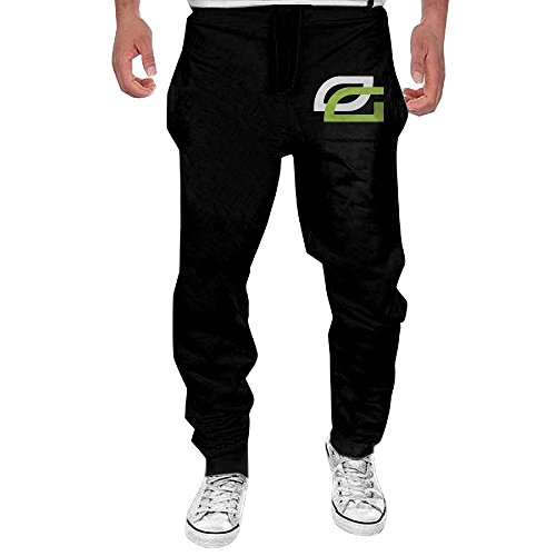 Xianggu Men MLG Optic Gaming Logo  Open-Bottom Sweatpants M Black