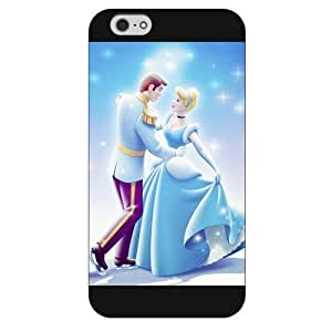 """Customized Black Frosted Disney Princess Cinderella iPhone 6 Plus Case, Only fit iPhone 6+ 5.5"""""""