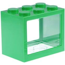 VORCOOL Aquarium Kit,Mini LED Fish Tank Aquarium, Green