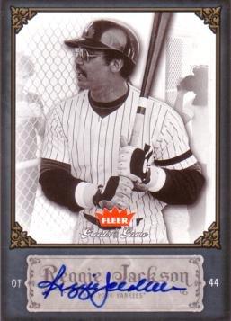 2006 Fleer Greats of the Game #75 Reggie Jackson Certified Autograph Baseball Card