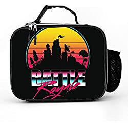 Welkoom Lunch Bag with Battle Royale Family Lunch Box|Durable Thermal Lunch Cooler Pack with Strap for Boys Men Women Girls