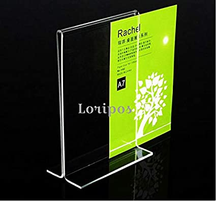 Acrylic Photo Frame A5 Label Holder Photo Frame Desk Sign Holder Menu Stand Plastic Picture Frame Advertising Menu Poster Frame Card Holder & Note Holder