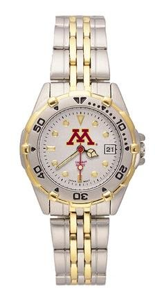 Minnesota Golden Gophers NCAA Women's All Star Watch with Stainless Steel Bracelet by Logo Art