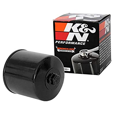 K&N Motorcycle Oil Filter: High Performance, Premium, Designed to be used with Synthetic or Conventional Oils: Fits Select BMW Motorcycles, KN-163: Automotive