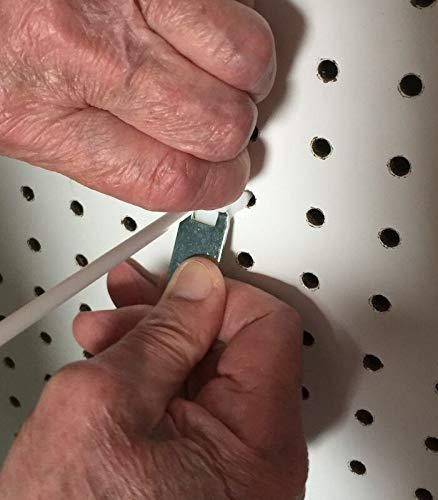 (500 PACK) White Peg Locks. Only Fits Our Plastic Pegboard Hooks (With 20 Keys) by STRIKE (Image #2)