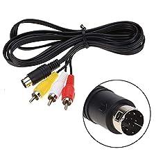Gimax 100pcs lots 1.8M 9 pin Audio Video AV Cable For Sega Genesis 2 or for Sega Genesis 3 Connection Cord