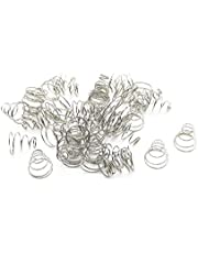 XJS Metal Taper Conical Compression Spring Silver Tone 11x5.5x11mm 50 pcs