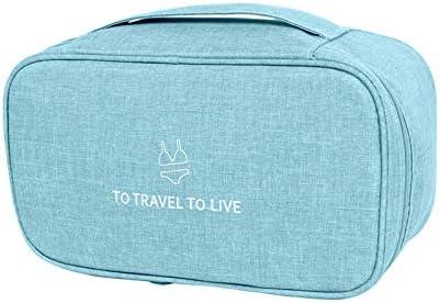 Unterwäsche Aufbewahrungstasche – Wasserdichtes Nylon Reisetasche Sockentasche Kulturbeutel Farbwah-lila(Blue)