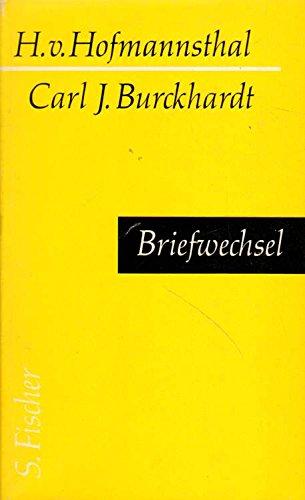 Briefwechsel Gebundenes Buch – 1956 Hugo von Hofmannsthal Carl Jacob Burckhardt S. Fischer B0000BJJ89