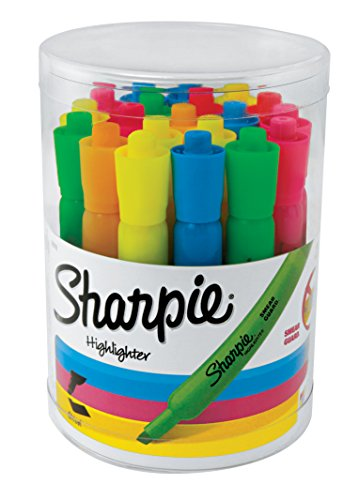 Sharpie Tank Highlighters, Chisel Tip, Assorted Fluorescent, 20 Count ()