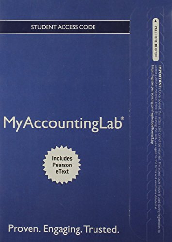 New Myaccountinglab With Pearson Etext Standalone Access Card for Prentice Hall's Federal Taxation 2013 Corporations, Pa