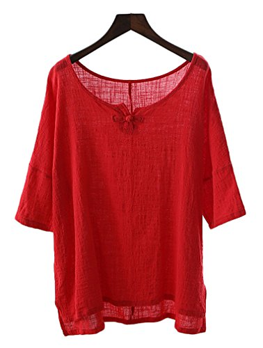 Soojun Womens Cotton Chinese Blouses