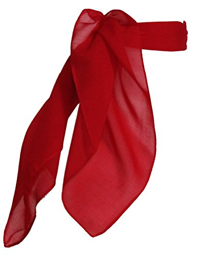 Womens Shop (TC 50s Shop Vintage Style Sheer Chiffon Neck Purse Costume Scarf - Red)