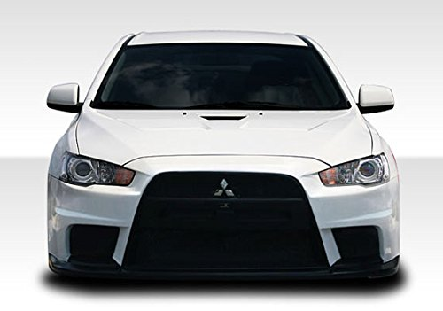 Duraflex Replacement for 2008-2017 Mitsubishi Lancer Evo X Look Front Bumper Cover - 1 Piece