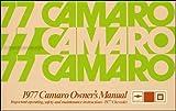 1977 Camaro Owner's Manual Reprint LT RS Z/28