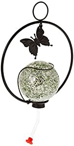 SPI Home 45007 Mosaic Glass Hummingbird Feeder, Green