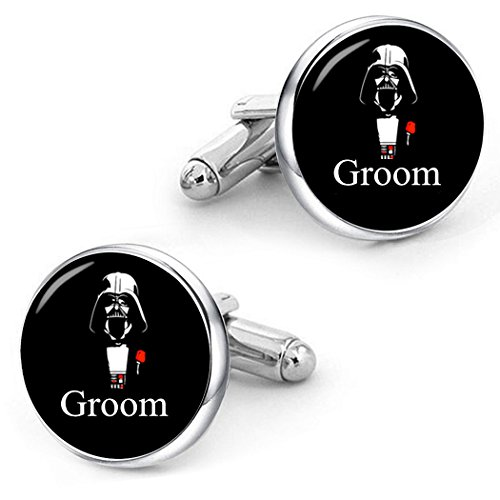 Kooer Groom Cufflinks For Star Style Custom Personalized Wedding Jewelry Gift (Groom) by Kooer