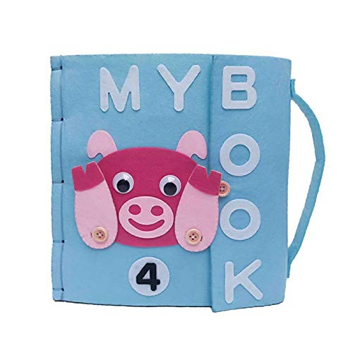 X-CRAFT Handmade Baby Book 5 Styles My First Book Felt Quiet Books Baby Early Cognitive Development Toys Handmade for Kid Felt Package by X-CRAFT