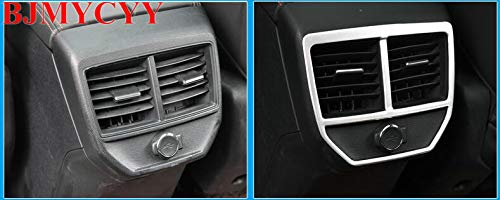car Accessories For 4008 5008 3008 GTStainless Steel Car Rear Air Conditioner Outlet Decoration Cover Styling