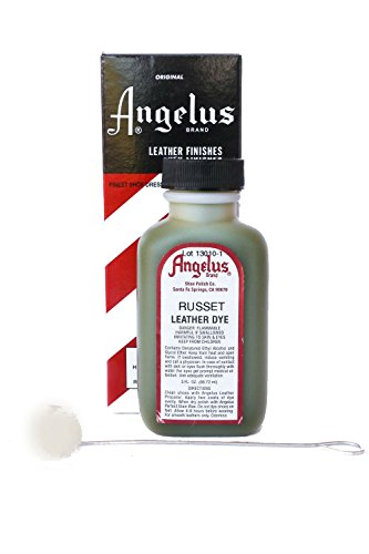 Angelus Brand Leather Dye w/Applicator - 3 oz, Russet ()