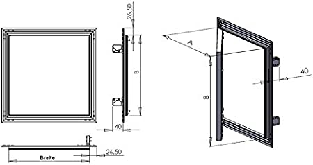 Tapa para revisión de marco de aluminio 12,5 mm GK Einlage yeso pladur aluminio (250 x 400): Amazon.es: Hogar