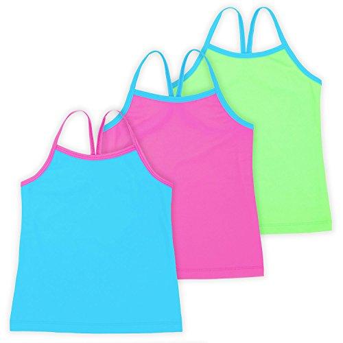 Ella Girls Dance Tank Top, Gymnastics & Dancewear, 3-Pack, Spring Bouquet 6