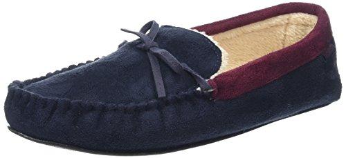 Totes Men's Suedette Mocc Low-Top Slippers Blue (Navy) FHGcq