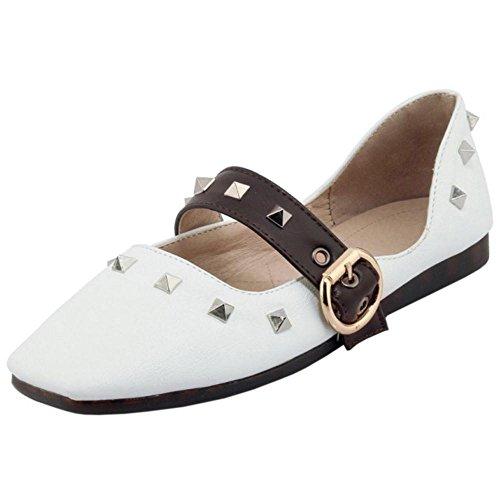 Zapatos Coolcept White Mujer Para Tacon Plano de vndw6xB