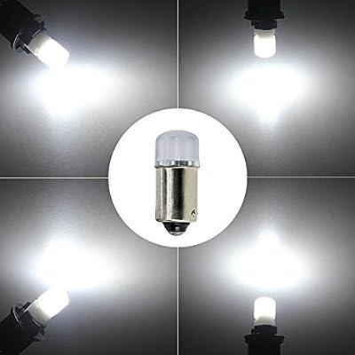 YOOSEN Ceramics Interior/Exterior LED Light Super Stable and Bright Bulb Bayonet BA9 BA9S 53 57 1895 64111 T4W Size White Color: Automotive