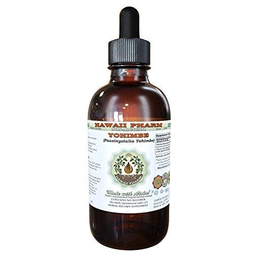 Yohimbe Alcohol-FREE Liquid Extract, Yohimbe Liquid (Pausinystalia Yohimbe) Dried Bark Glycerite 2 oz (Liquid Yohimbe Bark)