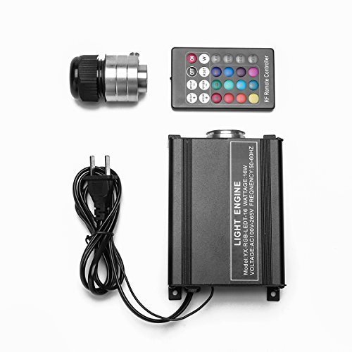 (16W RGB Flash LED Fiber Optic Star Ceiling Lights Source Engine Driver with 24RF Remote Controller)