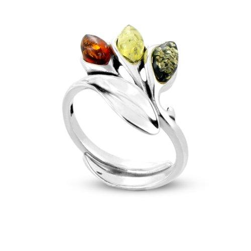 Tous mes bijoux - BABA01010 - Bague Femme - Argent 925/1000 3.7 gr - Ambre