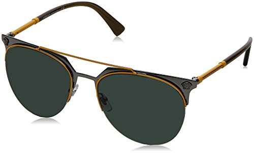 Versace Jaune Green Gunmetal Yellow Sonnenbrille VE2181 88xPqFwO