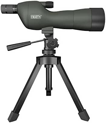 Emarth 20-60x60SE Straight Spotting Scope with Tripod, Optics Zoom 39-19m/1000m