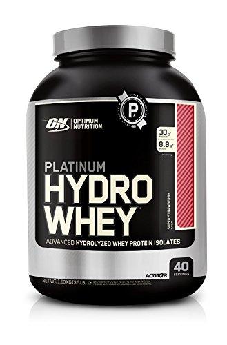 OPTIMUM NUTRITION Platinum Hydro Whey, Supercharged Strawberry, 1 Pound Pack of 3