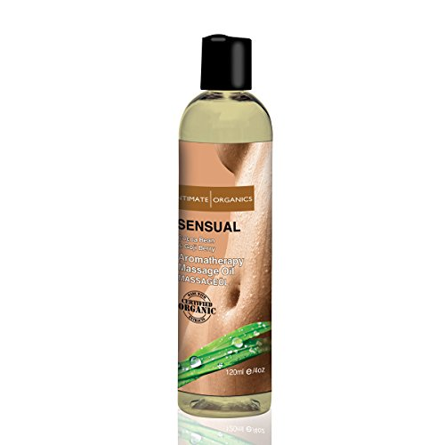 Intimate Organics Sensuel Huile de Massage Cocoa Bean et Goji Berry, 4 once