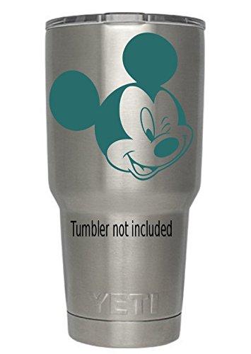 Mickey Winking Decals (タンブラーNot Included )マウスステッカーデカールによって作成されたClassyビニールCreations forすべてのブランドのタンブラーカップマグカップ mpn363634Mwink B01N9I0GQ2 ティール ティール