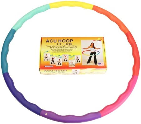Sports Hoop Weighted Hoop, Weight Loss ACU Hoop 3L - 3.3lb (41 inches Wide) Large, Weighted Fitness Exercise Hula Hoop 2
