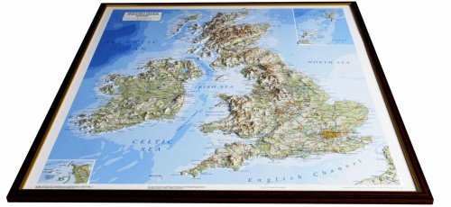 3d Relief Map Of Uk.British Isles Raised Relief Map Unframed Raised Relief Maps Series