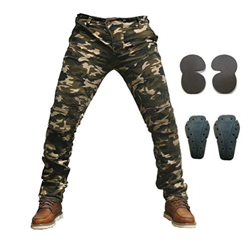 Men Motorcycle Riding Pants Camouflage Denim Jeans Armored Racing Jeans