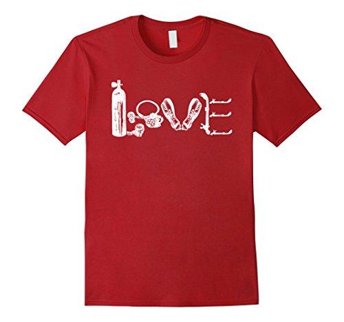 Mens I Love Scuba Diver T-Shirt Scuba Diver Sports XL Cra...