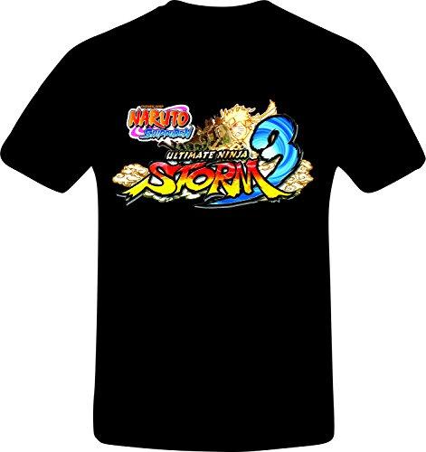 Naruto Shippuden, Ultimate Ninja Storm 3 - Best Quality Costum Tshirt (3XL, BLACK) -