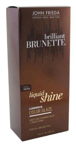 John Frieda Brilliant Brunette Liquid Shine Luminous Color Glaze-6.5 oz (192 ml) (Pack of 6) by John Frieda