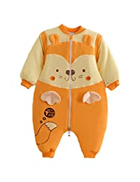 Happy Cherry Baby Sleep Bag Winter Cotton Zip Up Bear Pajamas for 3-24 Months