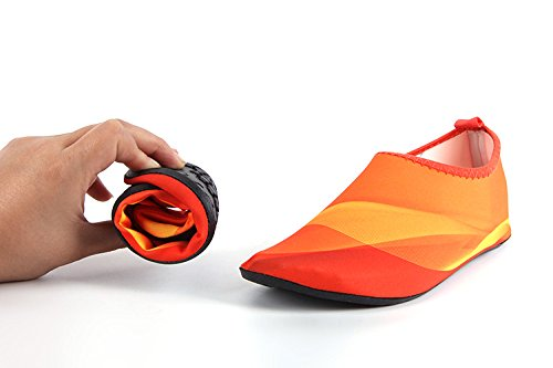 Kids Multi Skin Beach Shoes orange Aqua Unisex Yoga Barefoot Water For HYSENM Swim Surf Socks Functional dqx7nwXpdt