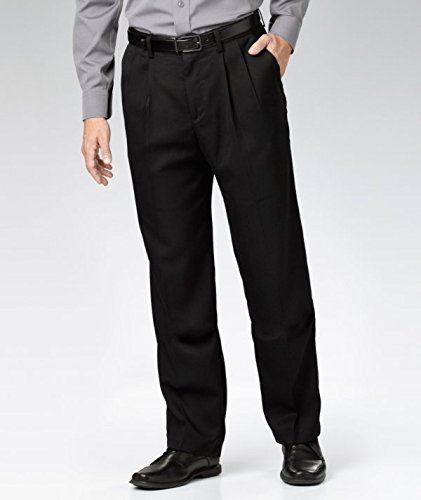 denver-haves-mens-pleated-front-black-pants-34-x-34