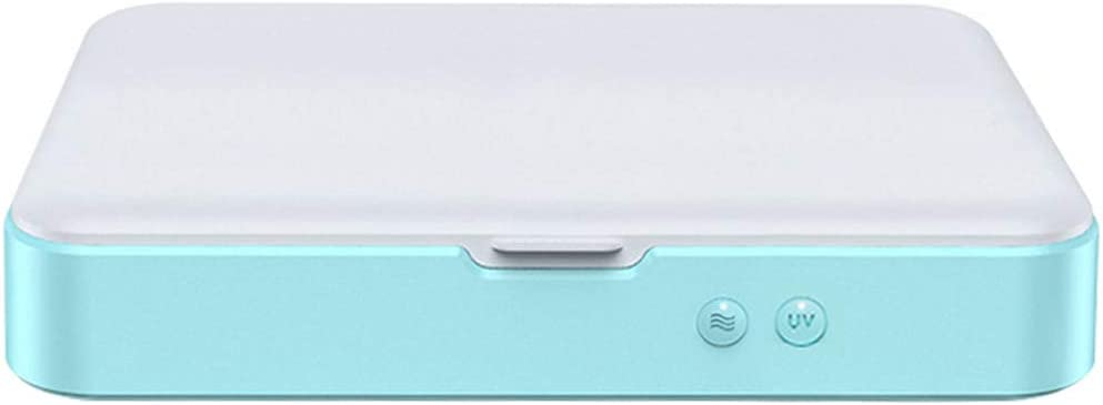 Ray Enterprises Multifunctional UV Disinfection Box Portable Mobile Phone Disinfector Cleaner with Wireless Charging Large Capacity Can Accommodate IPAD 234/×162/×43mm