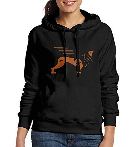 Price comparison product image HelloWorldA Sweatshirts for Women Markus The Lion 3 Col Womens Hoodies Black